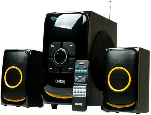 Колонки Dialog AP-208 2x15 + 30 Вт черный колонки dialog disco ad 07 2x12вт вишневый