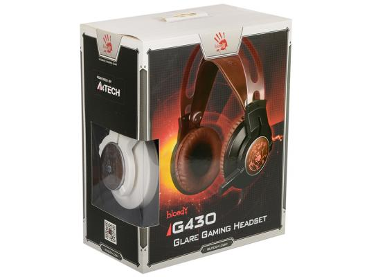 лучшая цена Гарнитура A4TECH Bloody G430 черный коричневый