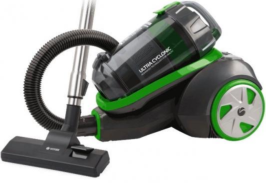 Пылесос Vitek VT-8130 BK сухая уборка зелёный чёрный пылесос vitek vt 8115 og сухая уборка оранжевый чёрный