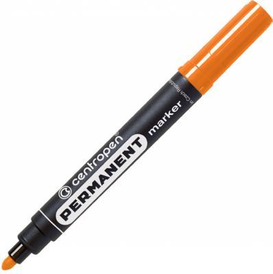 Маркер перманентный Centropen 8566/О 2.5 мм оранжевый маркер для доски centropen 8569 1ч 4 6 мм черный