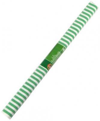 Бумага креповая Koh-i-Noor бело-зеленая полоска 200х50 см рулон 9755/69