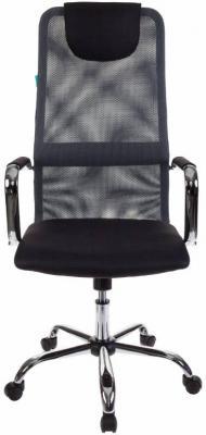 Кресло Бюрократ KB-9/DG/TW-12 серый TW-04 TW-12 сетка крестовина хром