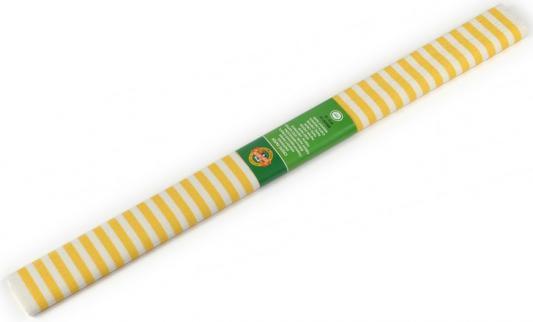 Бумага креповая Koh-i-Noor желто-белая полоска 200х50 см рулон 9755/68