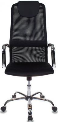 Кресло Бюрократ KB-9/BLACK черный TW-01 TW-11 сетка крестовина хром 492618 кресло компьютерное бюрократ бюрократ ch 899sl tw 11 черный хром