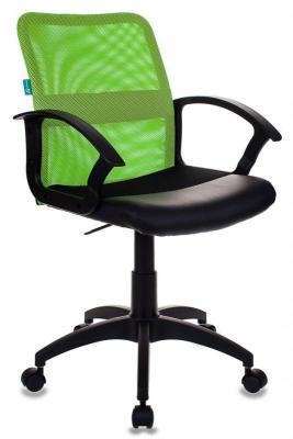Кресло Бюрократ CH-590/SD/BLACK искусственная кожа спинка сетка салатовый сиденье черный кресло детское бюрократ ch w797 sd cactus gn спинка сетка салатовый сиденье зеленый кактусы cactus gn