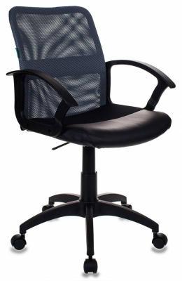 Кресло Бюрократ CH-590/DG/BLACK искусственная кожа спинка сетка серый сиденье черный духовой шкаф simfer b6ev18012