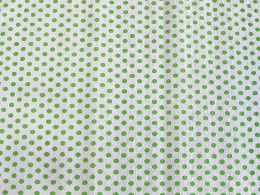 Бумага креповая Koh-i-Noor белая с салатовыми кружками 200х50 см рулон 9755/57