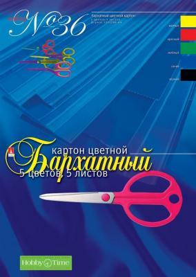 Набор цветного картона Альт №36 A4 5 листов 11-405-176