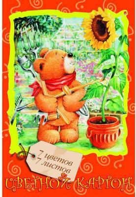 Набор цветного картона Альт Мультики A4 7 листов 11-407-126 в ассортименте 30 7 44 956513