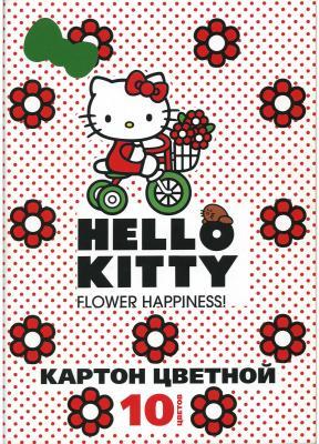 Набор цветного картона Action! Hello Kitty A4 10 листов в ассортименте набор цветного картона furby 12 листов в ассортименте