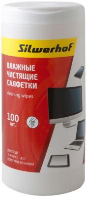 Чистящие салфетки Silwerhof Screen Clean 100 шт 671202 чистящие салфетки silwerhof notebook clean 100 шт 671203