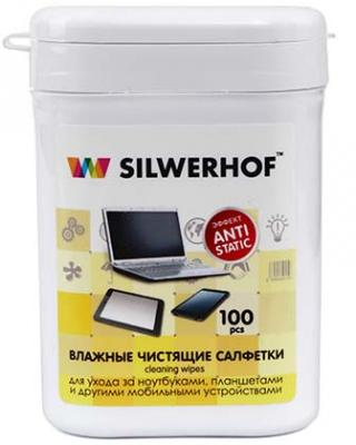 Чистящие салфетки Silwerhof Notebook Clean 100 шт 671203 free shipping 10pcs tps51124 notebook chips commonly used