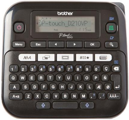 Принтер для печати наклеек Brother PT-D210 черный/белый принтер для печати наклеек brother pt h110