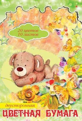 Цветная бумага Альт Мультики A4 10 листов 100396 в ассортименте бумага цветная 10 листов 10 цветов двухсторонняя shopkins