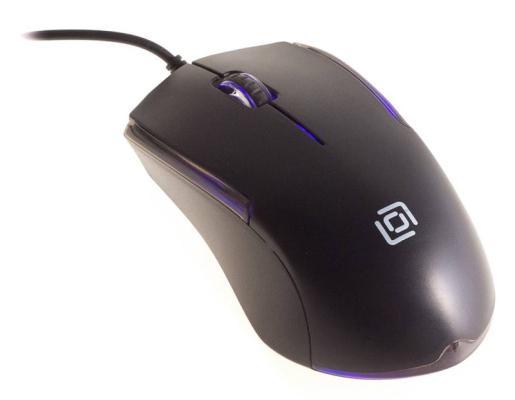 Мышь проводная Oklick 245M чёрный USB