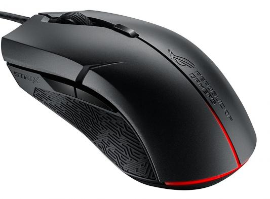 Мышь проводная ASUS ROG STRIX Evolve чёрный USB 90MP00J0-B0UA00 мышь asus strix claw black usb 90yh00c1 baua00