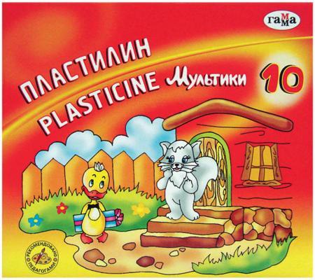 Пластилин Гамма Мультики 10 цветов 281017