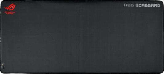 Коврик для мыши Asus ROG SCABBARD черный/красный 90MP00S0-B0UA00 коврик для мыши asus rog whetstone black red 90mp00c1 b0ua00