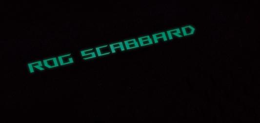 Коврик для мыши Asus ROG SCABBARD черный/красный 90MP00S0-B0UA00