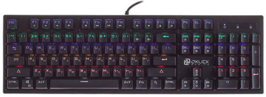 Клавиатура проводная Oklick 940G USB черный oklick vortex 940g black игровая клавиатура