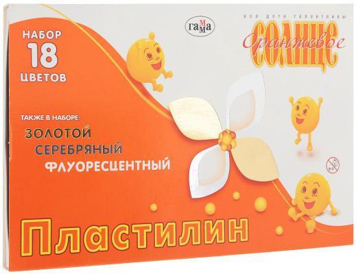 Пластилин Гамма Оранжевое солнце 18 цветов 280040