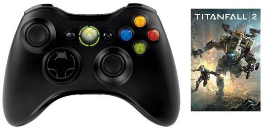 Беспроводной геймпад Microsoft Xbox 360 Wireless Controller for Windows JR9-00010-P + игра TITANFALL