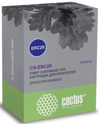 Картридж ленточный Cactus CS-ERC28 для Epson ERC28/M2000 фиолетовый cactus cs erc09 magenta картридж ленточный для epson erc09