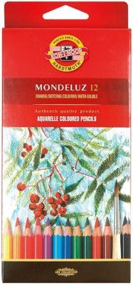 Набор акварельных карандашей Koh-i-Noor Mondeluz 12 шт акварельные 3716/12 набор цветных карандашей moleskine ew7p12cola 12 шт акварельные