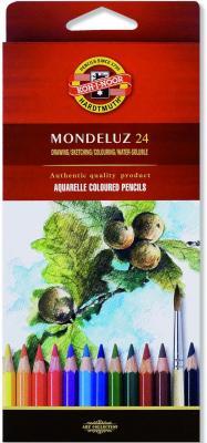 Набор акварельных карандашей Koh-i-Noor Mondeluz 24 шт акварельные 3718/24