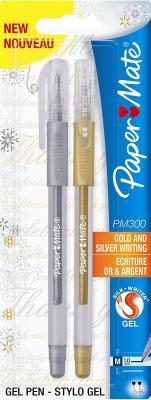 Набор гелевых ручек Paper Mate PM 300 2 шт золотой серебрянный 1 мм PM-S0916420