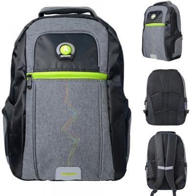 Городской рюкзак с рельефной спинкой Action! AB11124 21 л черный серый рюкзак городской polar цвет черный 22 5л 15008