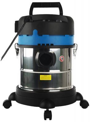 Промышленный пылесос СОЮЗ ПСС-7320 сухая влажная уборка синий чёрный серебристый аккумуляторный пылесос dometic powervac pv100 12 220в акб 90вт циклон влажная и сухая уборка