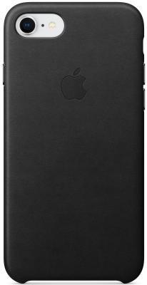 """все цены на Накладка Apple """"Leather Case"""" для iPhone 7 iPhone 8 чёрный MQH92ZM/A онлайн"""