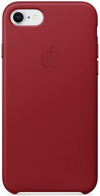 """все цены на Накладка Apple """"Leather Case"""" для iPhone 7 iPhone 8 красный MQHA2ZM/A онлайн"""