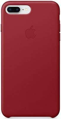 """все цены на  Накладка Apple """"Leather Case"""" для iPhone 7 Plus iPhone 8 Plus красный MQHN2ZM/A  онлайн"""