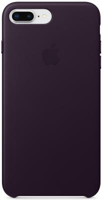 """все цены на  Накладка Apple """"Leather Case"""" для iPhone 7 Plus iPhone 8 Plus баклажанный MQHQ2ZM/A  онлайн"""