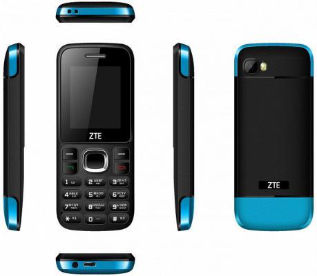 Телефон ZTE R550 черный синий 1.77 мобильный телефон zte blade r550 black blue