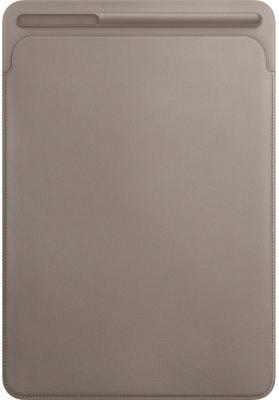 Чехол Apple Leather Sleeve для iPad Pro 10.5 платиново-серый MPU02ZM/A чехол apple leather sleeve для ipad pro 10 5 красный mr5l2zm a