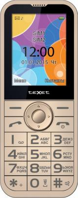 teXet TM-B330 бежевый Мобильный телефон texet dvr 580fhd