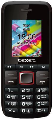 Мобильный телефон Texet TM-203 черный красный 1.77 мобильный телефон ginzzu mb501 красный