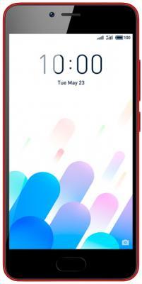 Смартфон Meizu M5c красный 5 16 Гб LTE Wi-Fi GPS 3G смартфон meizu m6 золотистый 5 2 16 гб lte wi fi gps