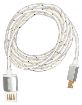 Кабель microUSB 1.5м Wiiix CB110-UMU-15S круглый серебристый кабели wiiix кабель переходник usb microusb