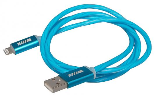 Кабель Lightning 1м Wiiix CBL710-U8-10BU круглый кабели wiiix кабель переходник с кожаной оплеткой