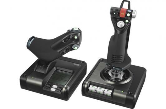 купить Контроллер игровой Logitech G X52 Professional H.O.T.A.S. джойстик и рычаг управления двигателем для авиа и космических симуляторов 945-000003 онлайн