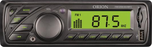 Автомагнитола Orion DHO-1601U USB MP3 FM 1DIN 4x40Вт черный