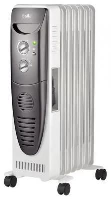 Масляный радиатор BALLU BOH/TB- 07FH 1500 Вт термостат ручка для переноски белый чёрный цена