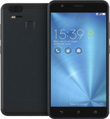 Смартфон ASUS ZenFone 3 Zoom ZE553KL черный 5.5 64 Гб 3G GPS Wi-Fi LTE 90AZ01H3-M00690 смартфон asus zenfone zf3 laser zc551kl золотистый 5 5 32 гб wi fi lte gps 3g 90az01b2 m00050