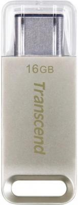 Флешка USB 16Gb Transcend Jetflash 850 OTG TS16GJF850Sсеребристый