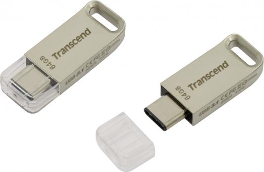 Флешка USB 64Gb Transcend JetFlash 850 OTG TS64GJF850S серебристый