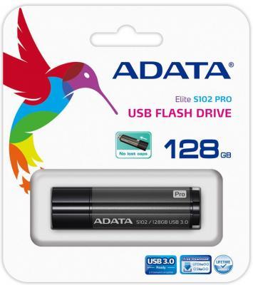 Флешка USB 128Gb A-Data S102 Pro USB3.0 AS102P-128G-RGY серый от 123.ru